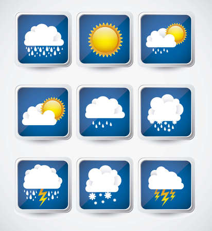 Illustration of icons sun icons of weather and seasons, vector illustration Stock Vector - 16819185