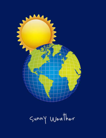 Illustration of icons sun icons of weather and seasons, vector illustration