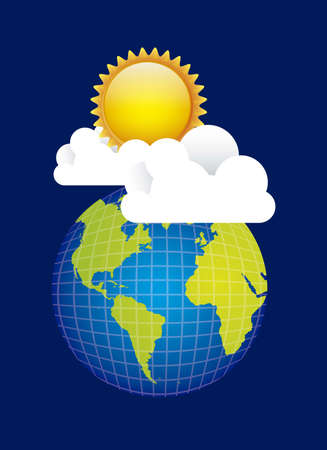 Illustration of icons sun icons of weather and seasons, vector illustration Stock Vector - 16819347