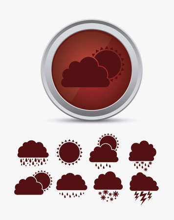 Illustration of icons sun icons of weather and seasons, vector illustration Stock Vector - 16818902