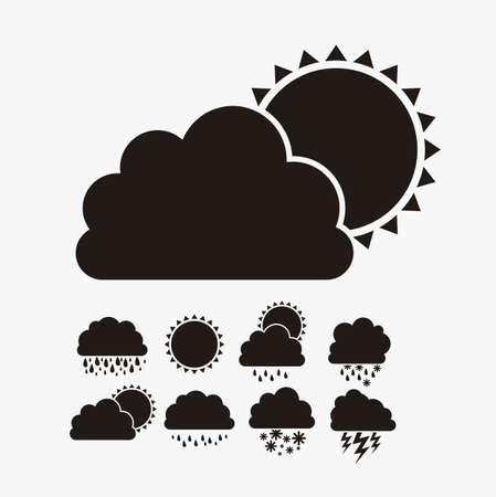 Illustration of icons sun icons of weather and seasons, vector illustration  Stock Vector - 16818932