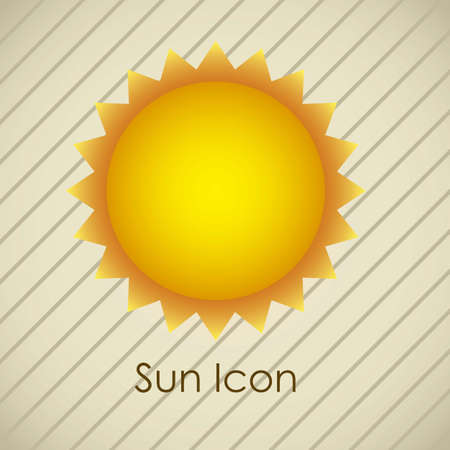Illustration of icons sun icons of weather and seasons, vector illustration Stock Vector - 16818917