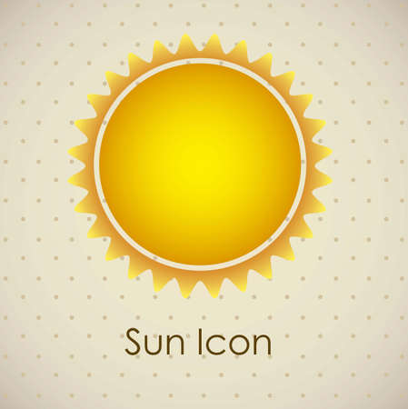 Illustration of icons sun icons of weather and seasons, vector illustration Stock Vector - 16818938