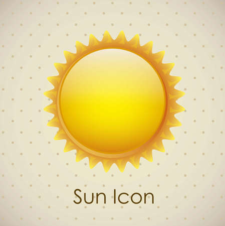 Illustration of icons sun icons of weather and seasons, vector illustration Stock Vector - 16819049