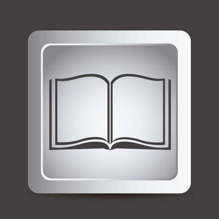 book open: Illustration of reading icons, people reading. vector illustration