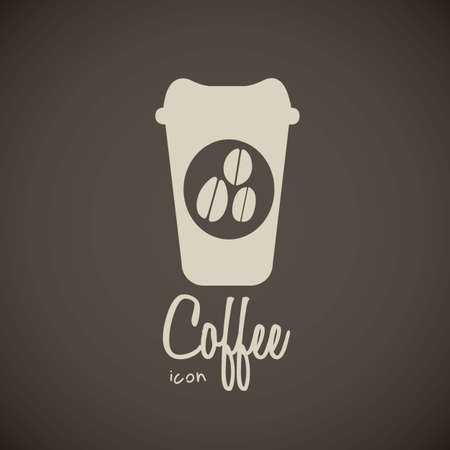 throw away: illustration of icons of coffee, cup for coffee, vector illustration Illustration