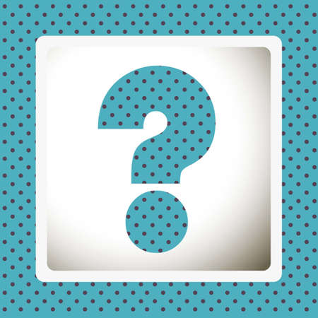 oversize: Icon of question, question mark silhouette with dots, vector illustration