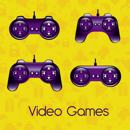 illustration of game controls, Videogames Silhouettes, vector illustration Stock Vector - 17004358