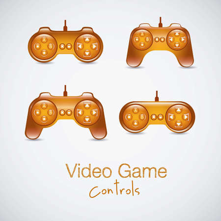 illustration of game controls, Videogames Silhouettes, vector illustration Stock Vector - 17004329