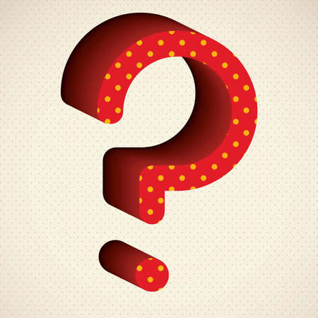 Icon of question, question mark silhouette with dots, vector illustration Stock Vector - 17004321