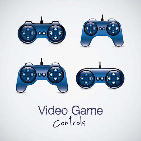 illustration of game controls, Videogames Silhouettes, vector illustration Stock Vector - 17004326