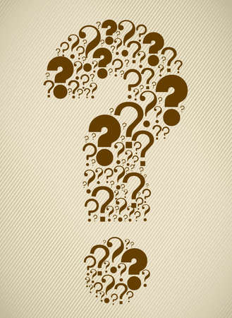 Icon of question, question mark silhouette with marks, vector illustration Stock Vector - 17002543