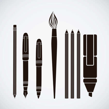 useful: Illustration of useful icons and icons of college. vector illustration