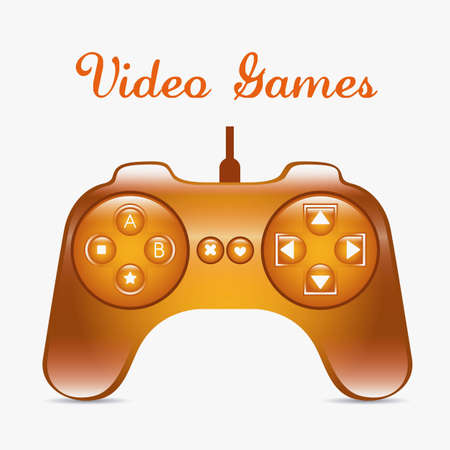 illustration of game controls, Videogames Silhouettes, vector illustration Stock Vector - 17004291
