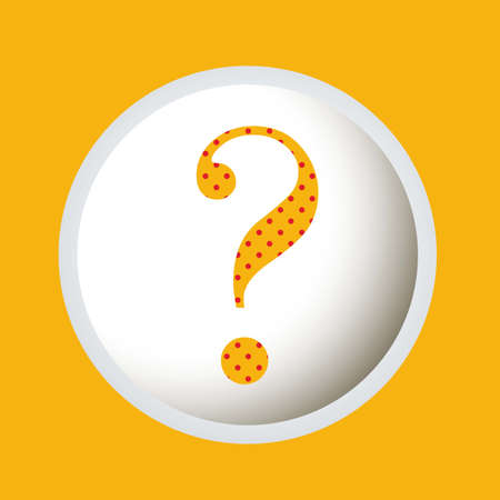 Icon of question, question mark silhouette with dots, vector illustration Stock Vector - 17002387