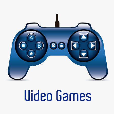 illustration of game controls, Videogames Silhouettes, vector illustration Stock Vector - 17002673