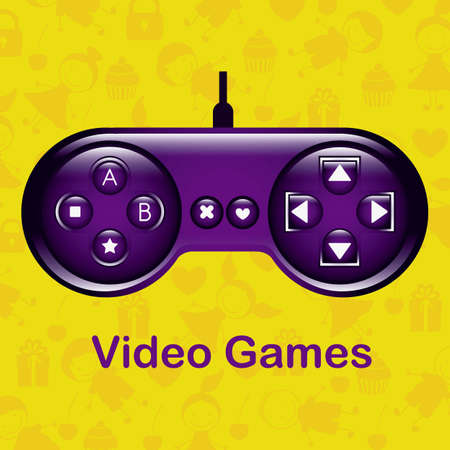 illustration of game controls, Videogames Silhouettes, vector illustration Stock Vector - 17004346