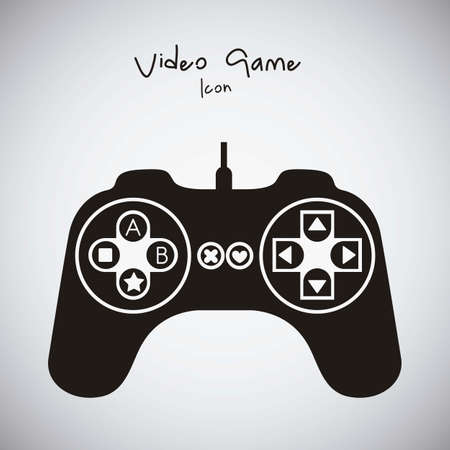 illustration of game controls, Videogames Silhouettes, vector illustration Stock Vector - 17001761