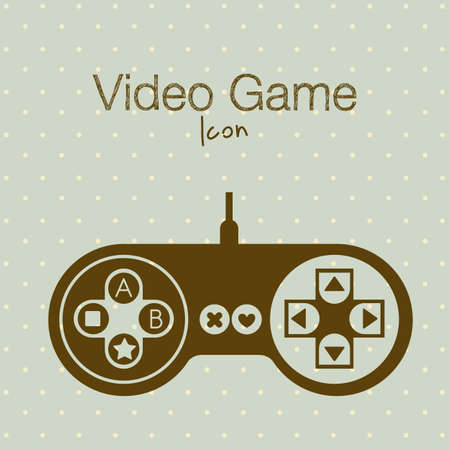 pushbuttons: illustration of game controls, Videogames Silhouettes, vector illustration