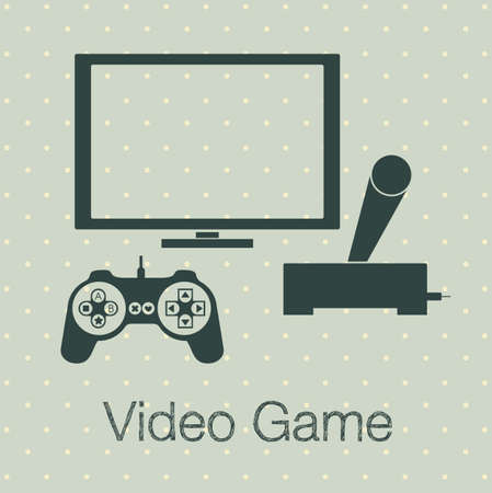 illustration of game controls, Videogames Silhouettes, vector illustration Stock Vector - 17001778
