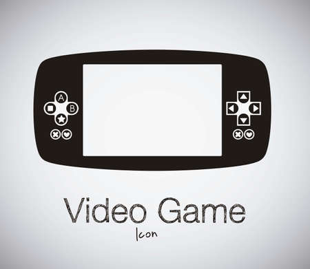 videogame: illustration of game controls, Videogames Silhouettes, vector illustration