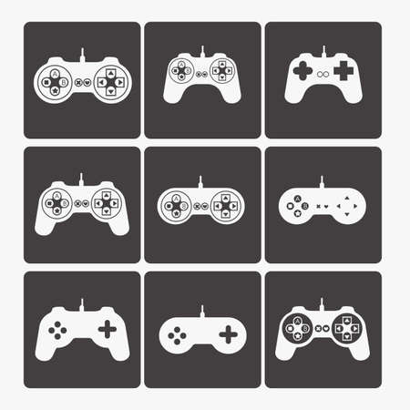 illustration of game controls, Videogames Silhouettes, vector illustration Stock Vector - 17001773