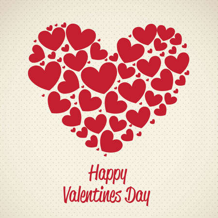 illustration of valentines day, heart made with hearts, vector illustration Stock Vector - 17001842
