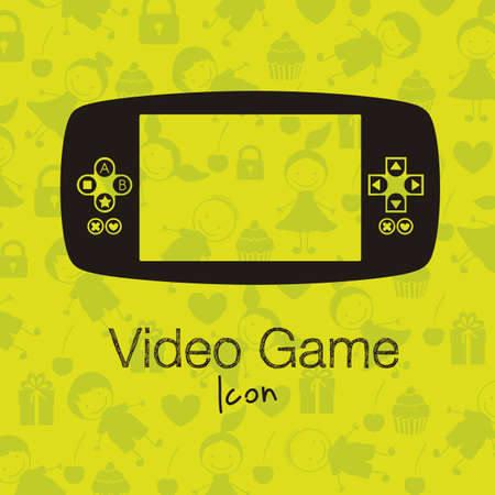 illustration of game controls, Videogames Silhouettes, vector illustration Stock Vector - 17002292
