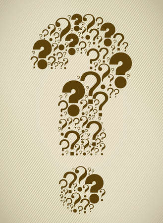 Icon of question, question mark silhouette with dots, vector illustration Vector