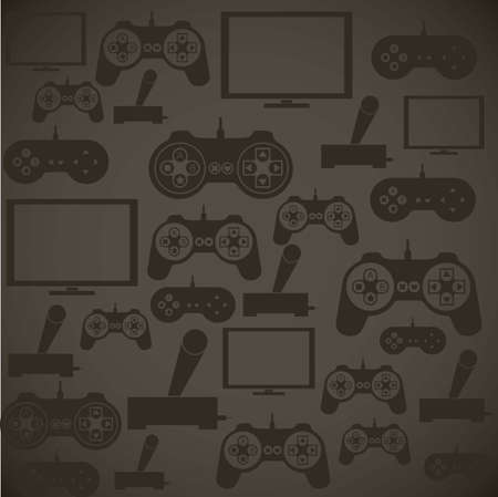 illustration of game controls, Videogames Silhouettes, vector illustration Stock Vector - 17002526