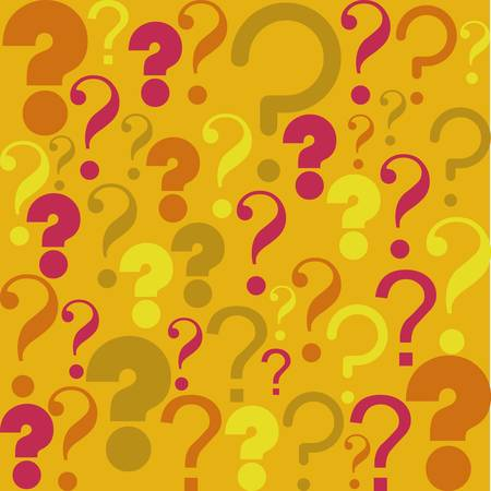 Icon of question, pattern of question mark silhouette,  vector illustration Vector