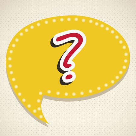 Icon of question, question mark in text ballon,  vector illustration Stock Vector - 17004299