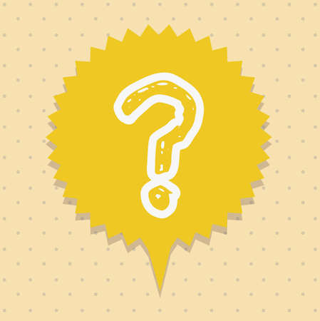 Icon of question, question mark in text ballon,  vector illustration Stock Vector - 17002416