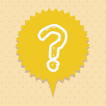 Icon of question, question mark in text ballon,  vector illustration Stock Vector - 17002416