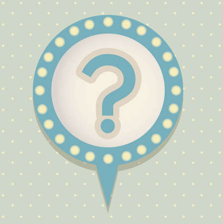 Icon of question, question mark in text ballon,  vector illustration Vector