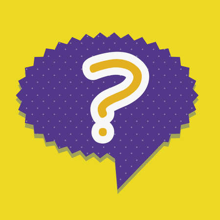 Icon of question, question mark in text ballon,  vector illustration Stock Vector - 17002432