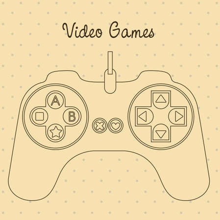illustration of game controls, Videogames Silhouettes, vector illustration Stock Vector - 17002449