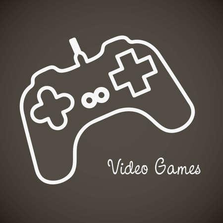 joypad: illustration of game controls, Videogames Silhouettes, vector illustration