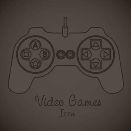 illustration of game controls, Videogames Silhouettes, vector illustration Stock Vector - 17002407