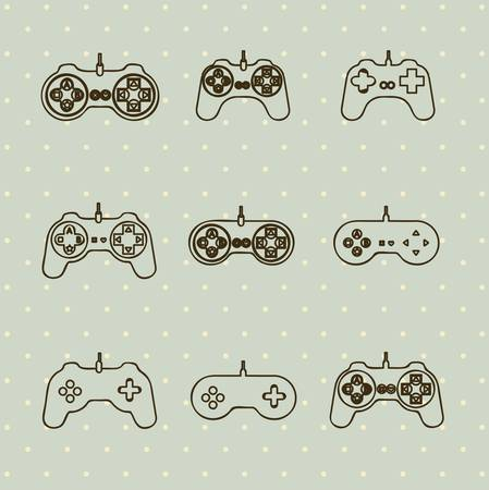 illustration of game controls, Videogames Silhouettes, vector illustration Stock Vector - 17002680