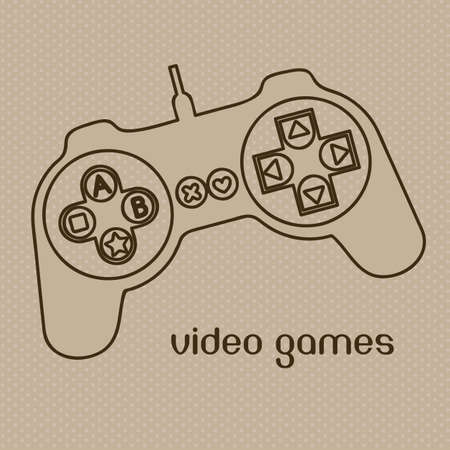 illustration of game controls, Videogames Silhouettes, vector illustration Stock Vector - 17004316