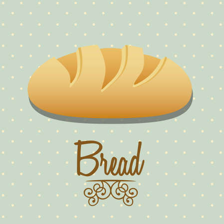 Illustration of classic bread, bakery icon, vector illustration Vector