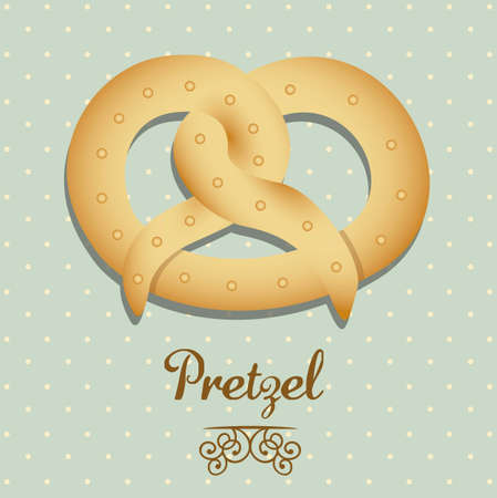 Illustration of pretzel and food, bakery icon, vector illustration Stock Vector - 17004356
