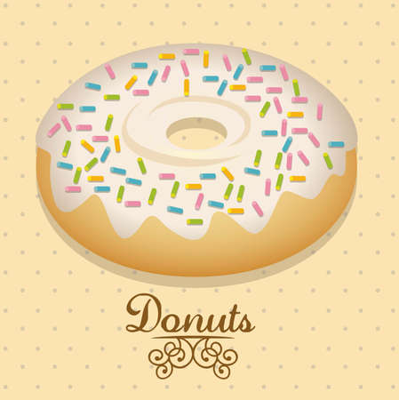 Illustration of donut and food, bakery icon, vector illustration Vector