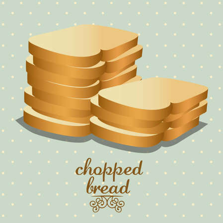 Illustration of chopped bread, bakery icon, vector illustration Stock Vector - 17002457
