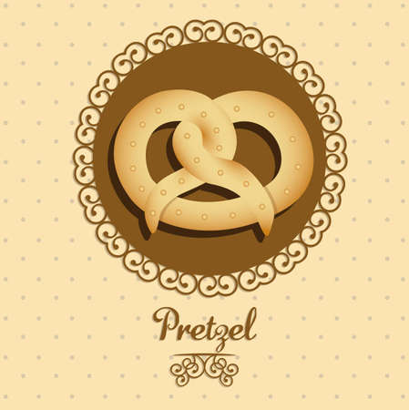 necessity: Illustration of pretzel and food, bakery icon, vector illustration