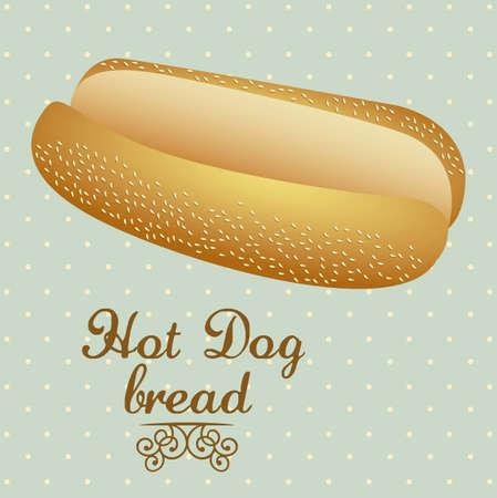 Illustration of  hot dog bread. bakery icon, vector illustration Stock Vector - 17004300