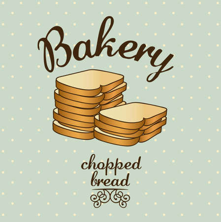 wholemeal: Illustration of chopped bread, bakery icon, vector illustration