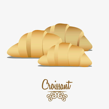 Illustration of croissant and food, bakery icon, vector illustration Stock Vector - 17002282