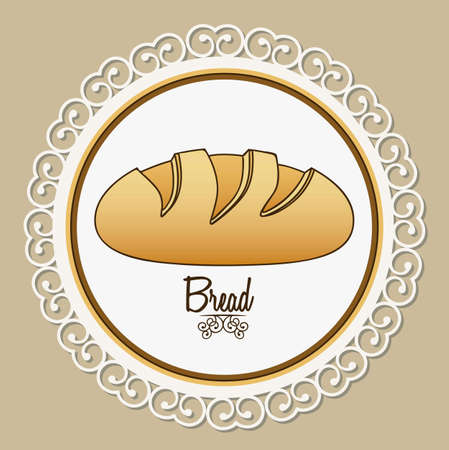 Illustration of classic bread, bakery icon, vector illustration Stock Vector - 17002520